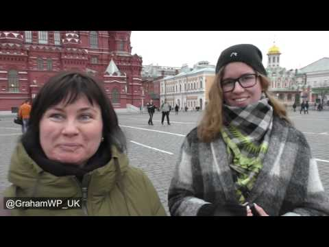 Moscow, Red Square 'What do you think of president Putin?'