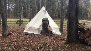 Atuk Kanguk 9x9 Canvas Tent set up ... : atuk tents - memphite.com