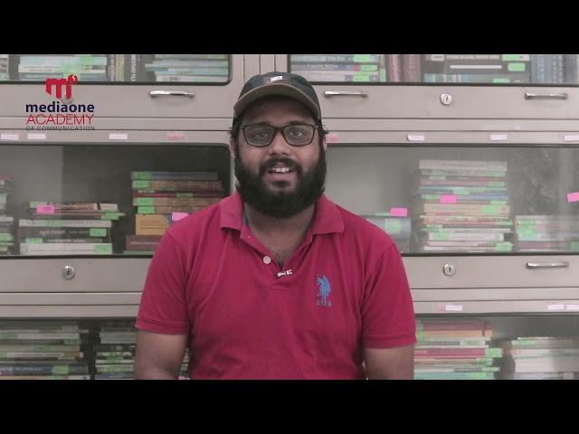 Testimonial Video   Roshin Rahavan   Mediaone Academy