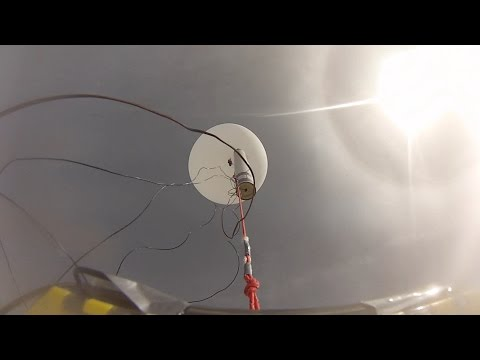 Stanford students launch high-altitude rocket from a balloon