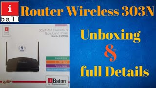 iball Router 300M MIMO Wireless Router Unboxing Review in Hindi