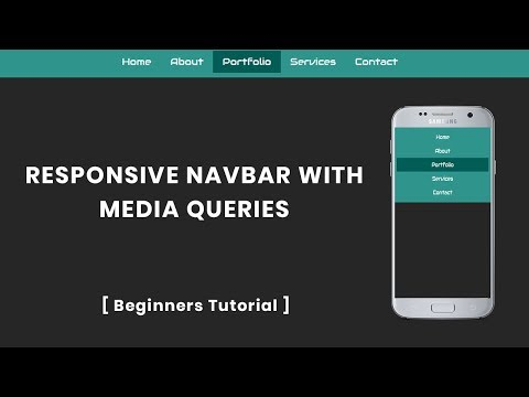 Responsive Navbar With Media Queries | Responsive Menu Bar In Html And Css