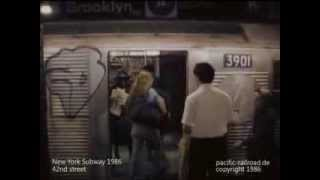 New York Subway 1986 NYC