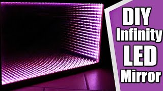 How to make a LED Infinity Illusion Mirror - BUDGET HOME DIY