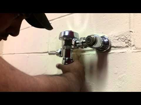 Howto Repair SLOAN Flushometer 5 MINUTES  (718)567-3700 Brooklyn Repair Toilet Flushometer Licensed