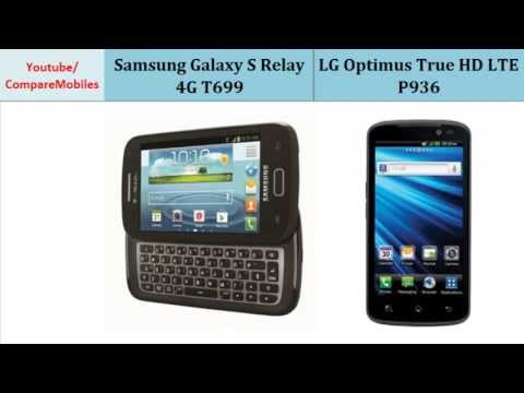 Samsung Galaxy S Relay 4G T699 vs LG Optimus True HD LTE P936, differences, specifications