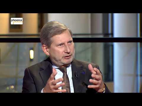 Marlon Herrmann im Gespräch mit EU-Erweiterungskommissar Johannes Hahn (ÖVP)