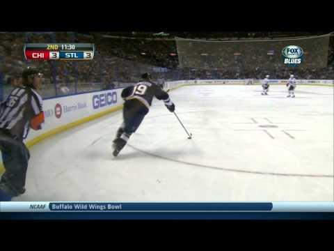 Dmitrij Jaskin wrist shot goal 3-3. 1st NHL goal. Chicago Blackhawks vs St. Louis Blues 12/28/13