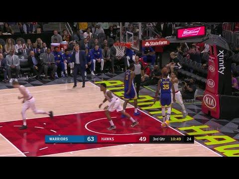 3rd Quarter, One Box Video: Atlanta Hawks vs. Golden State Warriors