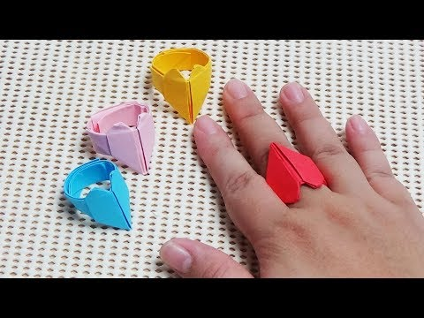 Nghệ Thuật Xếp Giấy Origami Chiếc Nhẫn Hình Trái Tim Khéo Tay Hay Làm #AmyKidsTV