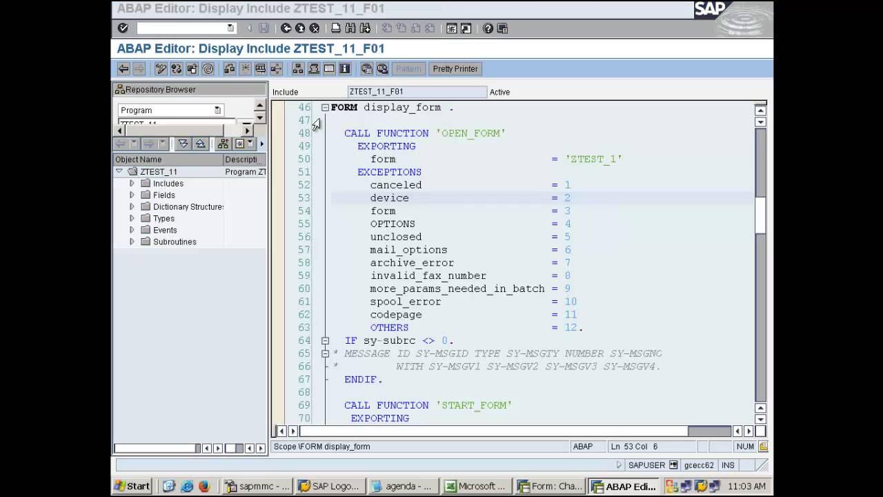SAP Script - Part 4 - Day 28