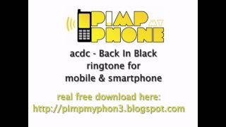 acdc - back in black free ringtone download for mobile and smartphone