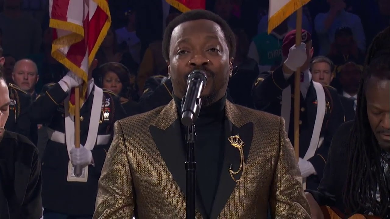 Anthony Hamilton Performs The National Anthem - Team LeBron vs Team Giannis - 2019 NBA All Star Game