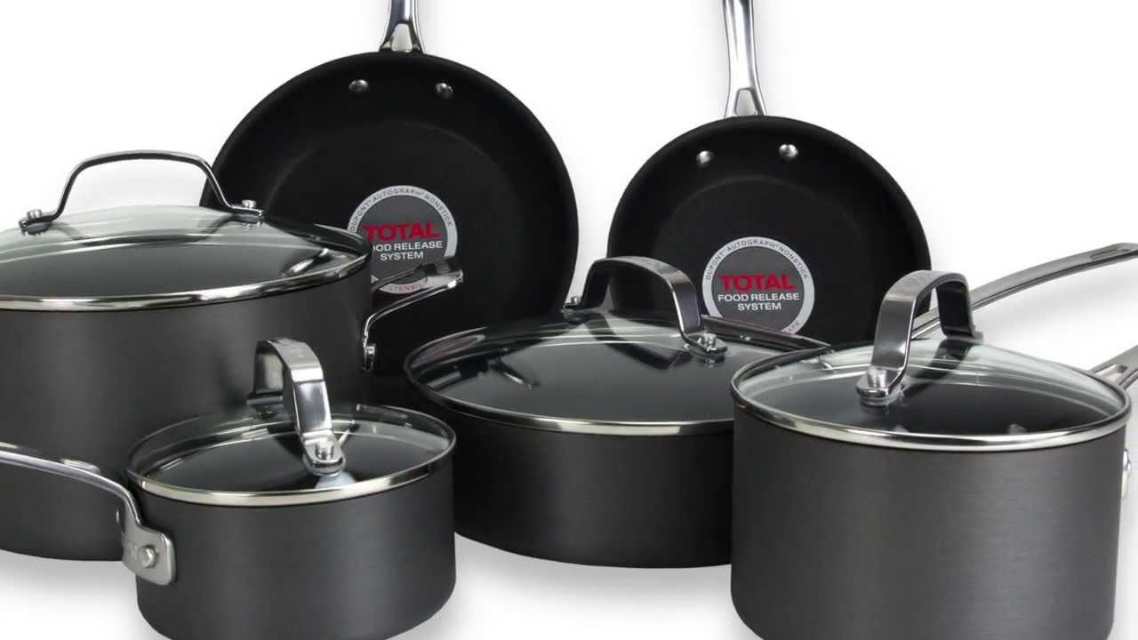 circulon genesis 10piece nonstick cookware set cir