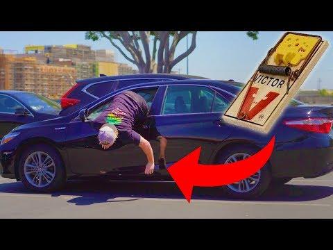RAT TRAP BAIT CAR PRANK PART 2!!