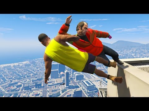 GTA 5 CRAZY Jumps/Falls Compilation #7 (Grand Theft Auto V Gameplay Fails Funny Moments)