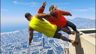 GTA 5 CRAZY Jumps/Falls Compilation #7 (Grand Theft Auto V Gameplay Fails Funny Moments)