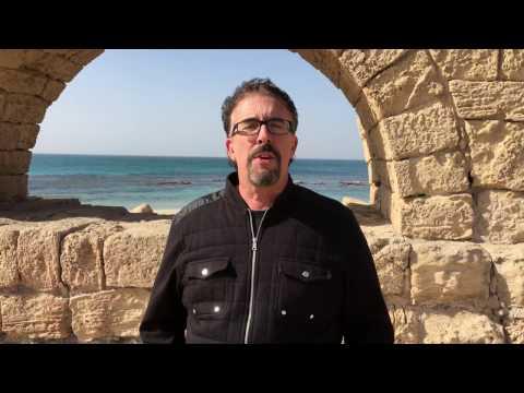 A Roman Aqueduct In Caesarea