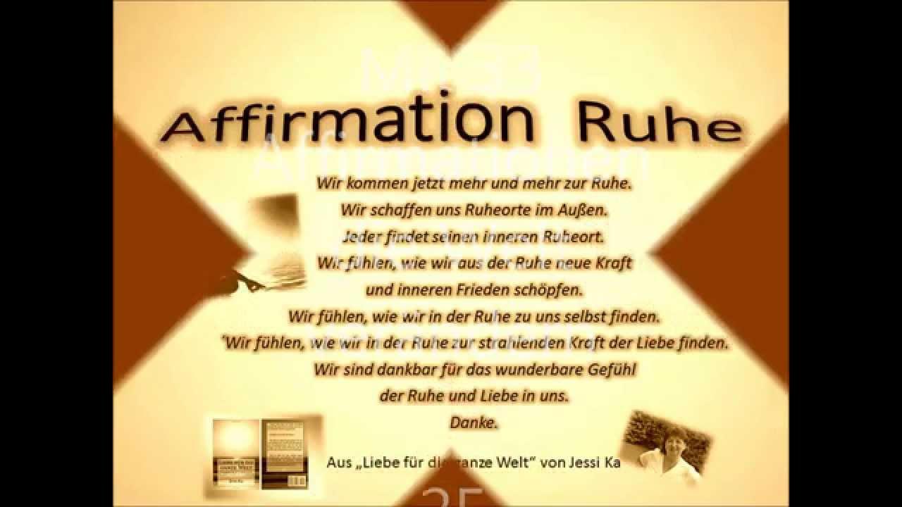 25. Affirmation: Innere Ruhe