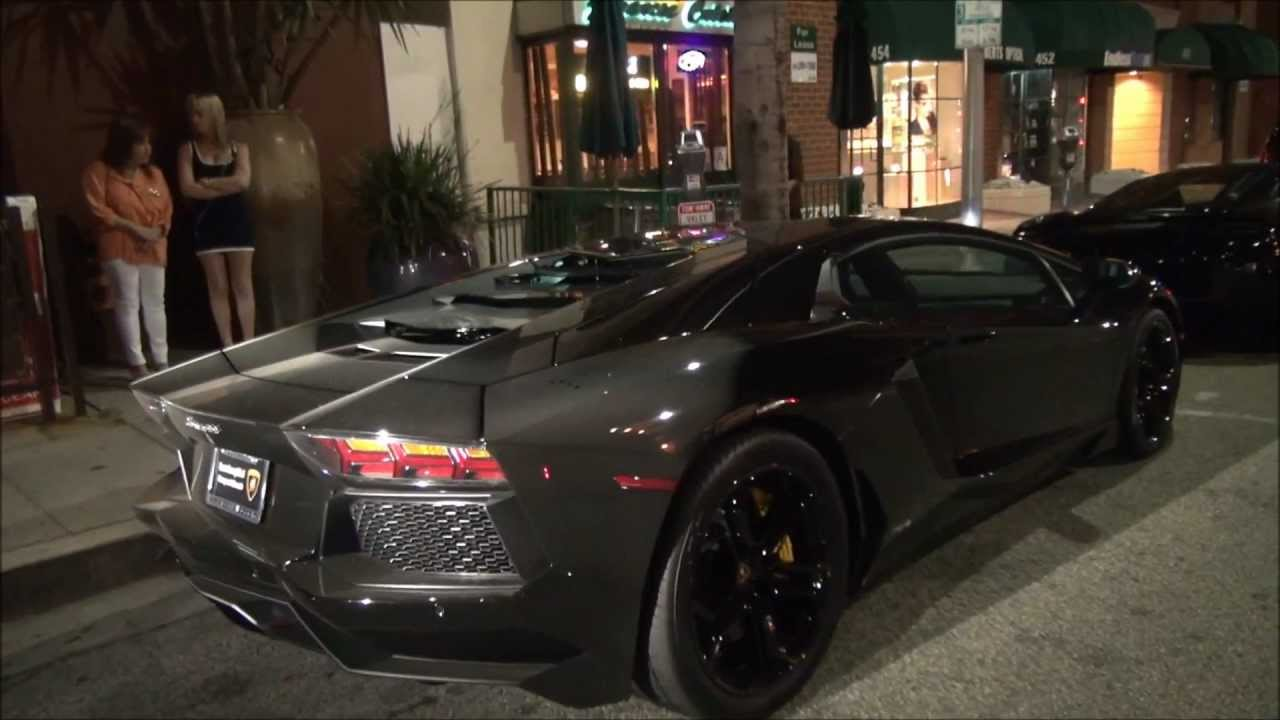 Kanye West S Lamborghini Aventador In Beverly Hills Youtube