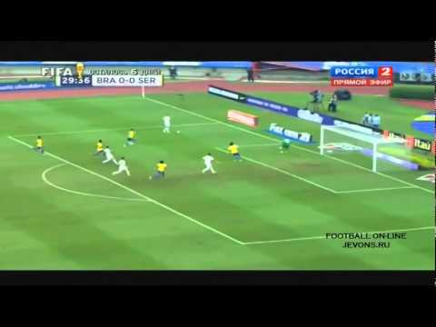 Giao hữu Brazil vs Serbia 1 - 0