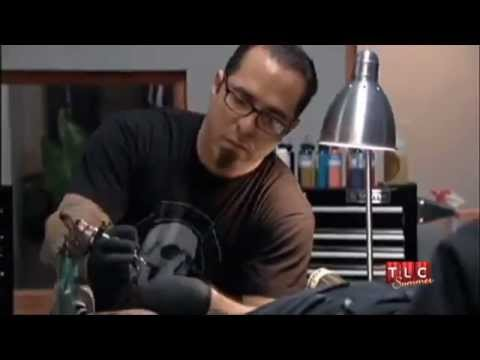 Ny ink corey miller does tattoo for ami james youtube for Cory james tattoo