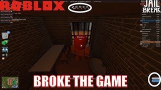BROKE THE GAME | Roblox Jailbreak