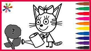 Три кота//Раскраски для детей//мультик//Рисуем Карамельку .Three cat // Coloring for children