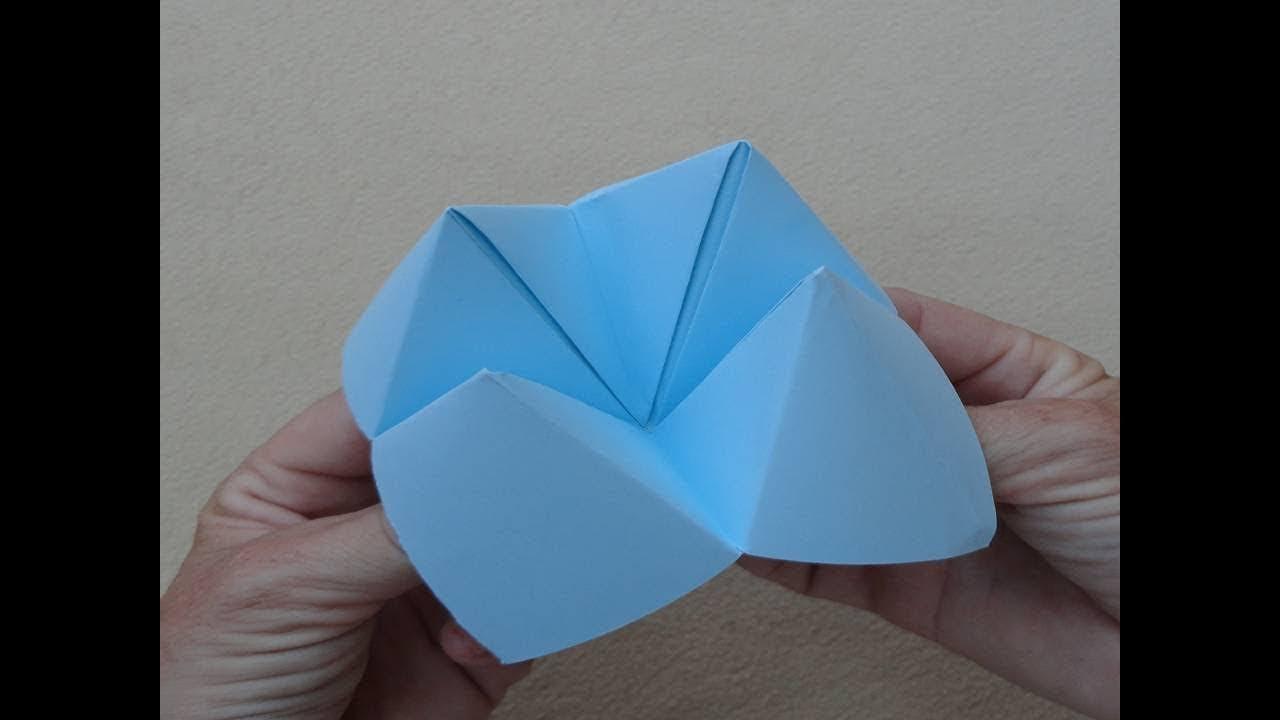 Origami: Fortune teller - Papiroflexia: Comecocos - YouTube