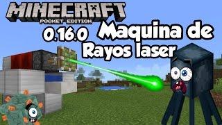 Como hacer una maquina de rayos láser Ataca a tus  amigos mobs y mas Minecraft pe 0.16.0