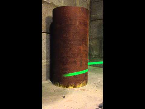 Savante Subsea and Underwater Lasers:  Underwater Laser scanner measuring ovality on pipe section