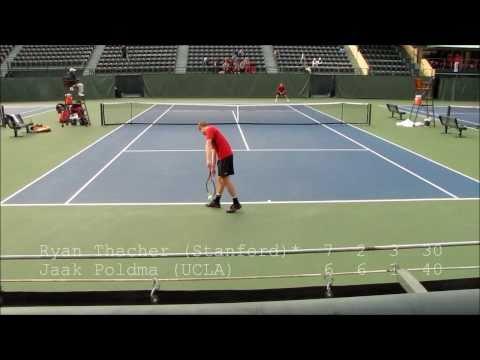 Ryan Thacher (Stanford) vs. Jaak Poldma (USC), March 2011
