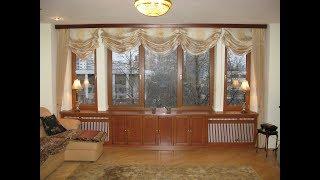 Красивое цветное окно в гостиной у Марины Аркадиевны из Матвеевки.