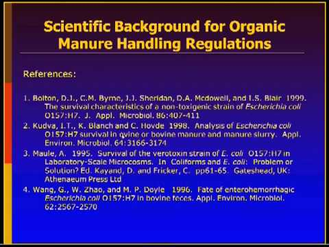 Microbial Food Safety Issues of Organic Foods Webinar