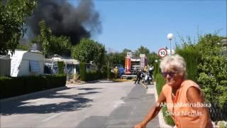 Incendio camping  racó  Benidorm