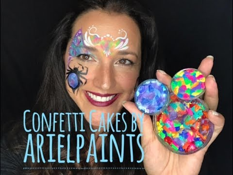 How to use a confetti cake for face painting youtube for How to apply face paint