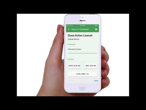 Timekeeping & Billing Software Overview formerlyExplainerVideo   092017 Update