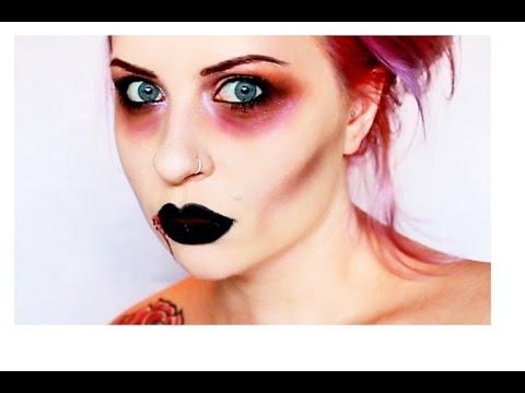 simple easy sexy halloween vampire makeup tutorial  youtube