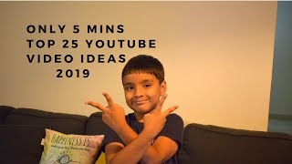 5 Mins  How to Come Up with Good Kids Video Ideas for YouTube   25 Video Ideas