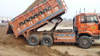 UD Nissan V8 engine truck dumper with 25 tons weight.