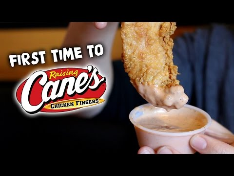 FIRST TIME TO RAISING CANE'S