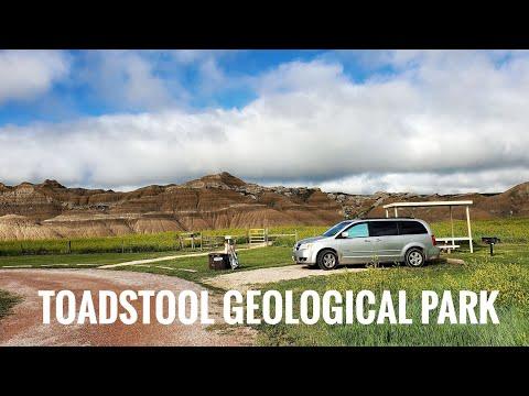 🗻🗻 Toadstool Geological park, Nebraska - minivanlife travel vlog