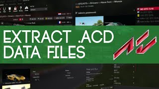 How to extract .acd files and repack them with Assetto Corsa Content Manager