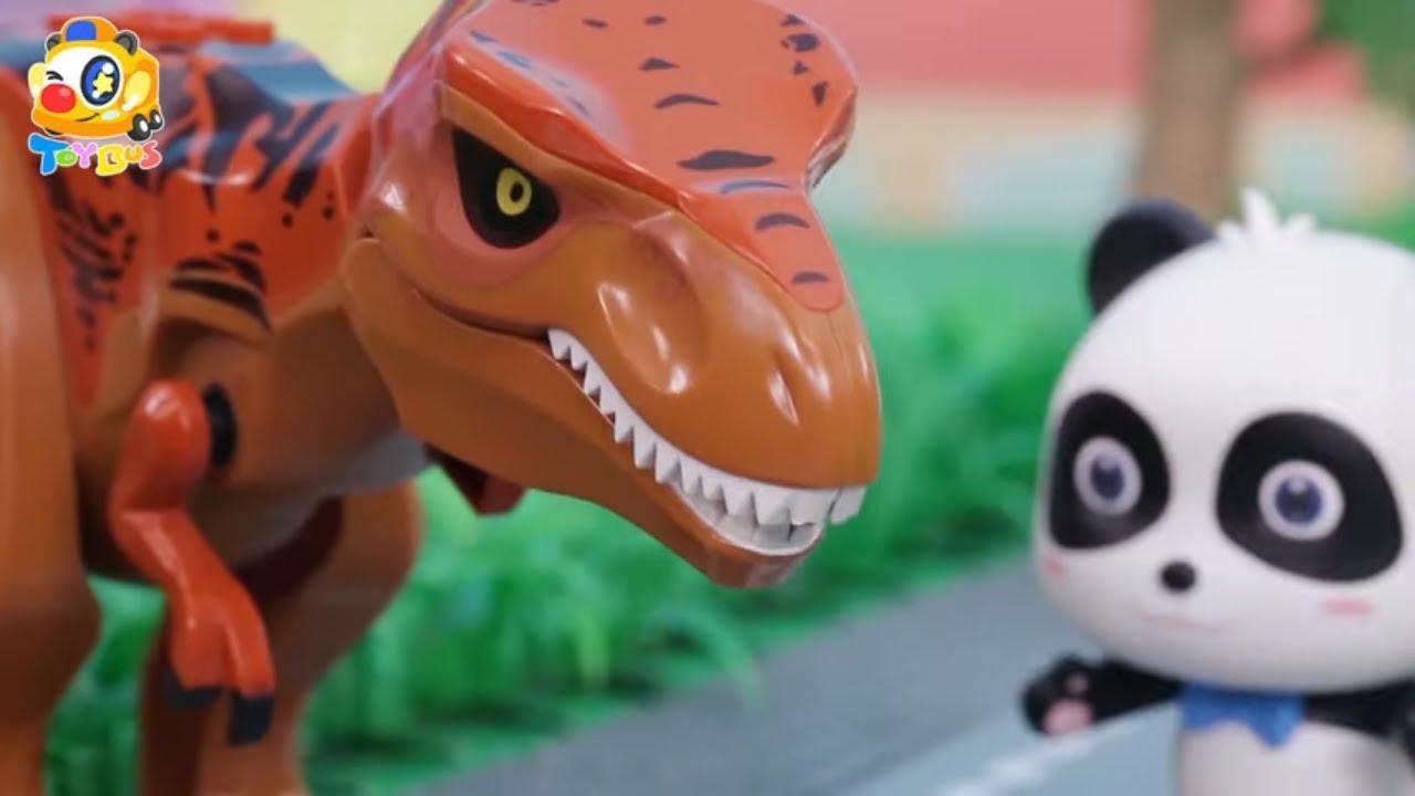 赤ちゃん恐竜がお腹すいた おいしい食べ物を作ってあげよう❤トイバス(ToyBus) キッズ おもちゃアニメ