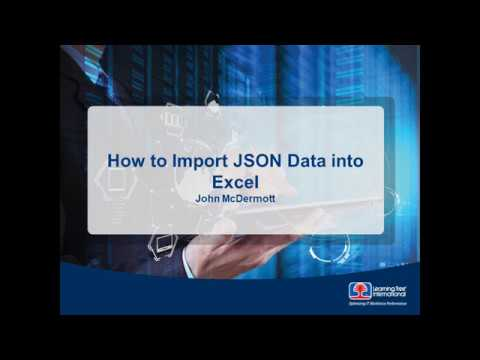 How to Impoort JSON Data into Excel