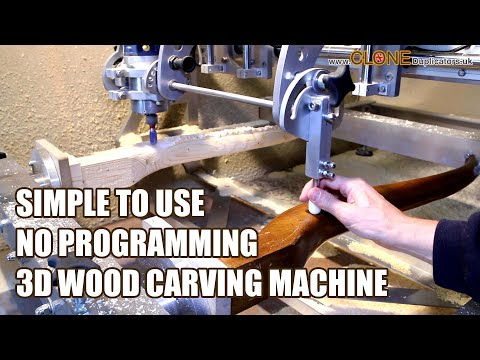 Wood Carving Machine - 3D Copy Carving - Easy To Use