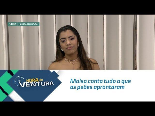 """Maísa conta tudo o que os peões aprontaram em """"A Fazenda"""" - Bloco 02"""