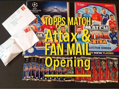 Topps Match Attax Extra, UEFA Champions League & Fan Mail Opening