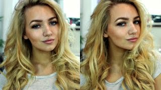 BIG BOUNCY CURLS HAIR TUTORIAL / NIGHT OUT, PROM, OCCASION HAIR /HOT ROLLERS & CURLING WAND