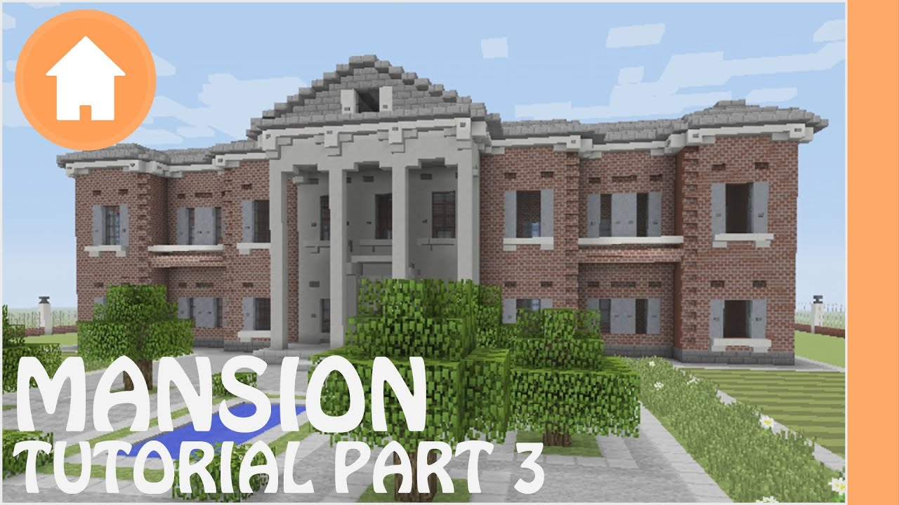 Minecraft tutorial how to build a mansion in minecraft 3 for How to build a mansion